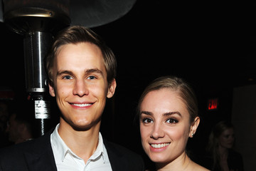 Photo of Caitlin Stasey & her friend  Rhys Wakefield  - Los Angeles