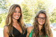 Author Kelly Killoren Bensimon and daughter Sea Louise attend Authors Night For The East Hampton Library at Gardiner's Farm on August 10, 2013 in East Hampton, New York.