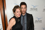 """Actor Dylan McDermott poses with Heidi Jo Markel at the Aviva """"A"""" Gala at the Beverly Wilshire Four Seasons Hotel on May 31, 2014 in Beverly Hills, California."""