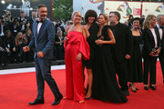 Official Competition jury members Taika Waititi, Trine Dyrholm, Malgorzata Szumowska, Naomi Watts, president of the jury Guillermo Del Toro, jury members Sylvia Chang and Nicole Garcia walk the red carpet ahead of the Award Ceremony during the 75th Venice Film Festival at Sala Grande on September 8, 2018 in Venice, Italy.