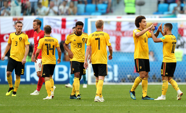 Belgium vs. England: 3rd Place Playoff - 2018 FIFA World Cup Russia [player,sports,sports equipment,team sport,ball game,football player,sport venue,soccer player,football,team,3rd place playoff - 2018 fifa world cup,sides victory,match,russia 3rd place playoff,2018 fifa world cup,belgium,russia,england,saint petersburg stadium,players]