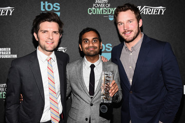 Aziz Ansari Backstage at Variety's 5th Annual Power of Comedy