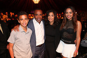 (L-R) Daniel Leonard, Sugar Ray Leonard, Bernadette Leonard and Camille Leonard attend the B. Riley & Co. and Sugar Ray Leonard Foundation's 5th Annual 'Big Fighters, Big Cause' Charity Boxing Night at the Santa Monica Pier on May 20, 2014 in Santa Monica, California.