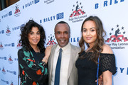 "Bernadette Leonard, Sugar Ray Leonard and Camille Leonard attend the Sugar Ray Leonard Foundation 9th Annual ""Big Fighters, Big Cause"" Charity Boxing Night presented by B. Riley FBR, Inc. at the Loews Santa Monica Beach Hotel on May 23, 2018 in Santa Monica, California."