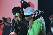 Swizz Beatz and Dee Dean perform on stage at No Commission: Miami presented by BACARDÃ? x The Dean Collection on December 7, 201 at Faena Forum on December 7, 2018 in Miami Beach, Florida.