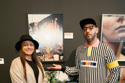 Lauren Ashley and Swizz Beatz attend No Commission: Miami presented by BACARDÃ? x The Dean Collection on December 7, 201 at Faena Forum on December 7, 2018 in Miami Beach, Florida.