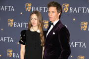 Eddie Redmayne (R) and Hannah Bagshawe attend the BAFTA Film Gala at the The Savoy Hotel, ahead of the EE British Academy Film Awards this Sunday, on February 08, 2019 in London, England.