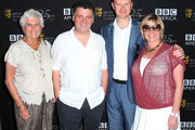 (L-R) Producers Beryl Vertue, Steven Moffat, Mark Gatiss, and Sue Vertue attend BAFTA LA TV Tea 2012 Presented By BBC America at The London Hotel Hollywood on September 22, 2012 in West Hollywood, California.