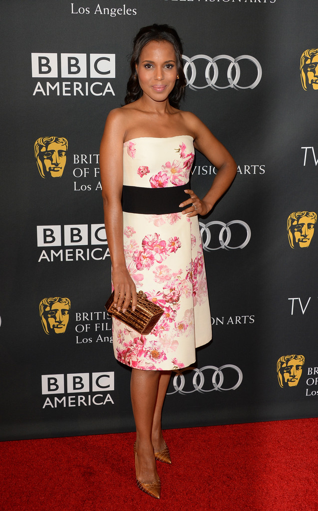 Actress Kerry Washington attends the BAFTA LA TV Tea 2013 presented by BBC America and Audi held at the SLS Hotel on September 21, 2013 in Beverly Hills, California.