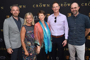 British Consul General to Los Angeles, Micheal Howells, BAFTALA CEO, Chantal Rickards , actress Celia Imrie, BAFTALA Board Chairman Kieran Breen and BAFTALA COO, Matthwe Wiseman attend the BAFTALA Summer Garden Party at The British Residence on August 19, 2018 in Los Angeles, California.