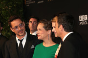 (L-R) Honoree Robert Downey Jr., producer Susan Downey and honoree Mark Ruffalo attend the BAFTA Los Angeles Jaguar Britannia Awards presented by BBC America and United Airlines at The Beverly Hilton Hotel on October 30, 2014 in Beverly Hills, California.