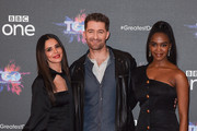 """(L-R) Cheryl, Matthew Morrison and Oti Mabuse attend a photocall for the BBC's """"The Greatest Dancer"""" at The May Fair Hotel on December 10, 2018 in London, England."""