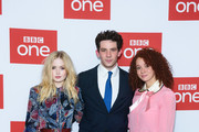 """Ellie Bamber, Josh O'Connor and Erin Kellyman attend a photocall for BBC One's """"Les Miserables"""" at BAFTA on December 05, 2018 in London, England."""