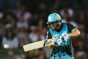 Alex Ross of the Heat bats during the Big Bash League match between the Melbourne Renegades and the Brisbane Heat at Etihad Stadium on December 23, 2017 in Melbourne, Australia.