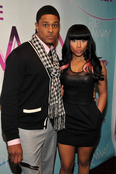 Actor Pooch Hall and Singer Nicki Minaj attend BET's Rip The Runway 2010 at