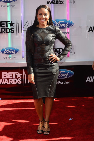 TV personality Angela Simmons attends the BET AWARDS '14 at Nokia Theatre L.A. LIVE on June 29, 2014 in Los Angeles, California.