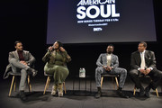 Jason Dirden, Kelly Price, Sinqua Walls and Tony Cornelius attend the BET American Soul NYC Screening Event on January 28, 2019 in New York City.