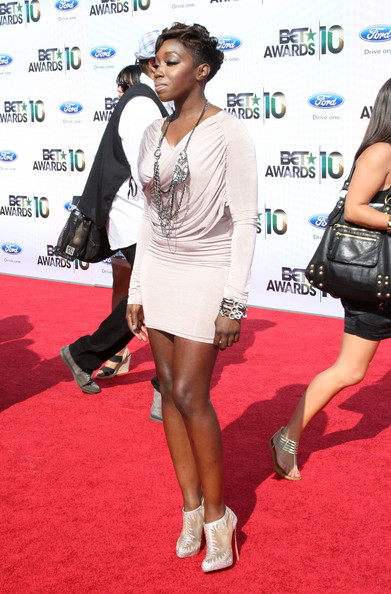 Singer Estelle arrives at the 2010 BET Awards held at the Shrine Auditorium on June 27, 2010 in Los Angeles, California.