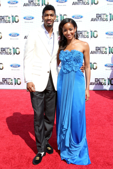 TV personality Farnsworth Bentley and guest arrive at the 2010 BET Awards held at the Shrine Auditorium on June 27, 2010 in Los Angeles, California.