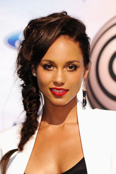 Performer Alicia Keys arrives at the BET Awards '11 held at the Shrine Auditorium on June 26, 2011 in Los Angeles, California.