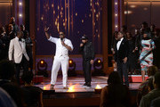 (L-R) Singers Isaac Carree, Canton Jones, Da' T.R.U.T.H., Charles Jenkins, and Jessica Reedy perform onstage during the BET Celebration of Gospel 2013 at Orpheum Theatre on March 16, 2013 in Los Angeles, California.