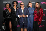 """V. Bozeman, Erica Ash, Chris Stokes, Paula Patton and Connie Orlando attend BET+ And Footage Film's """"Sacrifice"""" Premiere Event at Landmark Theatre on December 11, 2019 in Los Angeles, California."""