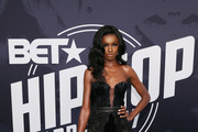 Model Leomie Anderson attends the BET Hip Hop Awards 2017 at The Fillmore Miami Beach at the Jackie Gleason Theater on October 6, 2017 in Miami Beach, Florida.
