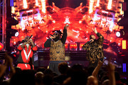 T-Pain, Rick Ross and DJ Khaled perform onstage during the BET Hip Hop Awards 2017 at The Fillmore Miami Beach at the Jackie Gleason Theater on October 6, 2017 in Miami Beach, Florida.