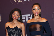 """Chloe and Halle Bailey arrive at """"Q 85: A Musical Celebration for Quincy Jones"""" presented by BET Networks at Microsoft Theater on September 25, 2018 in Los Angeles, California."""