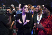 (L-R) Jessie J, Tank, and Ro James attend the 2017 Soul Train Awards, presented by BET, at the Orleans Arena on November 5, 2017 in Las Vegas, Nevada.
