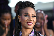 MC Lyte attends the 2017 Soul Train Awards Pre-Show, presented by BET, at the Orleans Arena on November 5, 2017 in Las Vegas, Nevada.