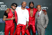 (L-R) Ro James, BJ The Chicago Kid, Luke James and guest attend the 2019 Soul Train Awards presented by BET at the Orleans Arena on November 17, 2019 in Las Vegas, Nevada.