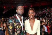 Sinqua Walls and Issa Rae attend the 2019 Soul Train Awards presented by BET at the Orleans Arena on November 17, 2019 in Las Vegas, Nevada.