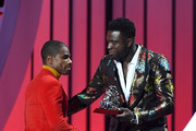"""Kirk Franklin accepts the """"Best Gospel/Inspirational Award"""" onstage at the 2019 Soul Train Awards presented by BET at the Orleans Arena on November 17, 2019 in Las Vegas, Nevada."""