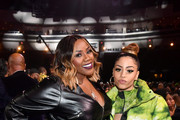Kelly Price and Layton Greene attend the 2019 Soul Train Awards presented by BET at the Orleans Arena on November 17, 2019 in Las Vegas, Nevada.