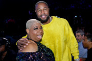 Luenell and Tank attend the 2019 Soul Train Awards presented by BET at the Orleans Arena on November 17, 2019 in Las Vegas, Nevada.