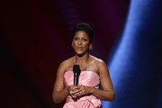 Tamron Hall speaks onstage during the 51st NAACP Image Awards, Presented by BET, at Pasadena Civic Auditorium on February 22, 2020 in Pasadena, California.