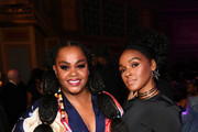 (L-R) Jill Scott and Janelle Monáe attend the 51st NAACP Image Awards, Presented by BET, at Pasadena Civic Auditorium on February 22, 2020 in Pasadena, California.