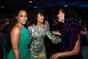(L-R) Angela Bassett, Yara Shahidi, and Tracee Ellis Ross attend the 51st NAACP Image Awards, Presented by BET, at Pasadena Civic Auditorium on February 22, 2020 in Pasadena, California.