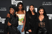 (L-R) Sandra Lambeck, Leomie Anderson, Jasmine Luv, and Jasmin Brown attend BET's Social Awards 2018 - It Girls Welcome Dinner on February 10, 2018 in Atlanta, Georgia.