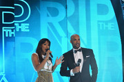 Hosts Kelly Rowland and Boris Kodjoe on stage at BET's Rip The Runway 2013:Show at Hammerstein Ballroom on February 27, 2013 in New York City.