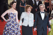 """Rebecca Hall, Penelope Wilton and Steven Spielberg attend """"The BFG (Le Bon Gros Geant - Le BGG)"""" premiere during the 69th annual Cannes Film Festival at the Palais des Festivals on May 14, 2016 in Cannes, France."""