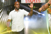 Chauncey Billups of the Killer 3s is introduced during week eight of the BIG3 three on three basketball league at Staples Center on August 13, 2017 in Los Angeles, California.