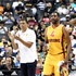 Reggie Theus Photos - Head coach Reggie Theus of Bivouac and Shawne Williams #4 react in the game against 3 Headed Monsters during week four of the BIG3 three-on-three basketball league at Barclays Center on July 14, 2019 in the Brooklyn borough of New York City. - BIG3 - Week Four - Brooklyn