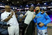 Carlos Boozer #4 of the Power poses for photos with fans during week seven of the BIG3 three on three basketball league at Allstate Arena on August 03, 2019 in Chicago, Illinois.