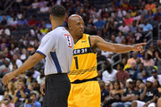 Chauncey Billups #1 of Killer 3s talks with an official in a game against Power during week two of the BIG3 three on three basketball league at Spectrum Center on July 2, 2017 in Charlotte, North Carolina.