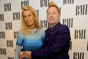 (L-R) Nora Forster and John Lydon attend the BMI Awards at The Dorchester on October 15, 2013 in London, England.