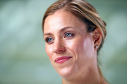 Angelique Kerber of Germany speaks during the All Access Hour press conference at Marina Bay Sands convention center on October 20, 2018 in Singapore.