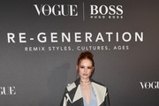 Madelaine Petsch arrives for the BOSS & VOGUE Italia Event at Hotel Viu Milan on February 21, 2020 in Milan, Italy.