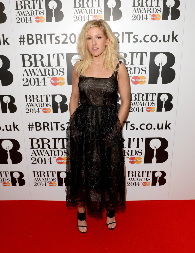 Ellie Goulding attends the BRIT awards nominations at ITV Studios on January 9, 2014 in London, England.